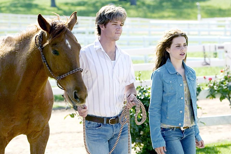 """<p><strong>HBO Max's Description:</strong> """"What starts as a lousy summer for teenager Katy McLaughlin soon turns inspiring. Home in Wyoming on her family's horse-breeding ranch, Katy faces a hard-working summer after her poor performance in boarding school. But when Katy encounters a rowdy filly that her father considers dangerous and beyond discipline, Katy believes she has what it takes to tame the horse.""""</p> <p><a href=""""https://play.hbomax.com/feature/urn:hbo:feature:GXdcbKgPXh6XCPQEAAC2r"""" class=""""link rapid-noclick-resp"""" rel=""""nofollow noopener"""" target=""""_blank"""" data-ylk=""""slk:Watch Flicka on HBO Max here!"""">Watch <strong>Flicka</strong> on HBO Max here!</a></p>"""