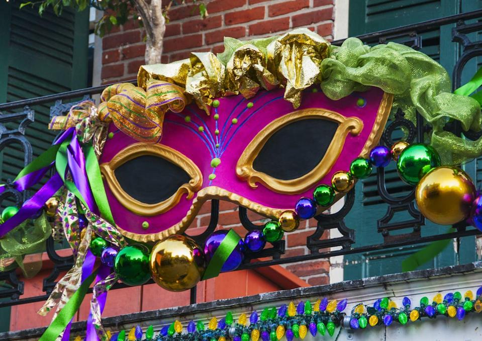 """<p>Each float in a Mardi Gras parade is decorated differently to fit into a central theme, which can be anything from <a href=""""https://www.countryliving.com/life/g35410503/black-history-books/"""" rel=""""nofollow noopener"""" target=""""_blank"""" data-ylk=""""slk:literature"""" class=""""link rapid-noclick-resp"""">literature</a> to humor. And they don't waste any time getting to work: Most start on the following year's floats as soon as Fat Tuesday is over. </p>"""
