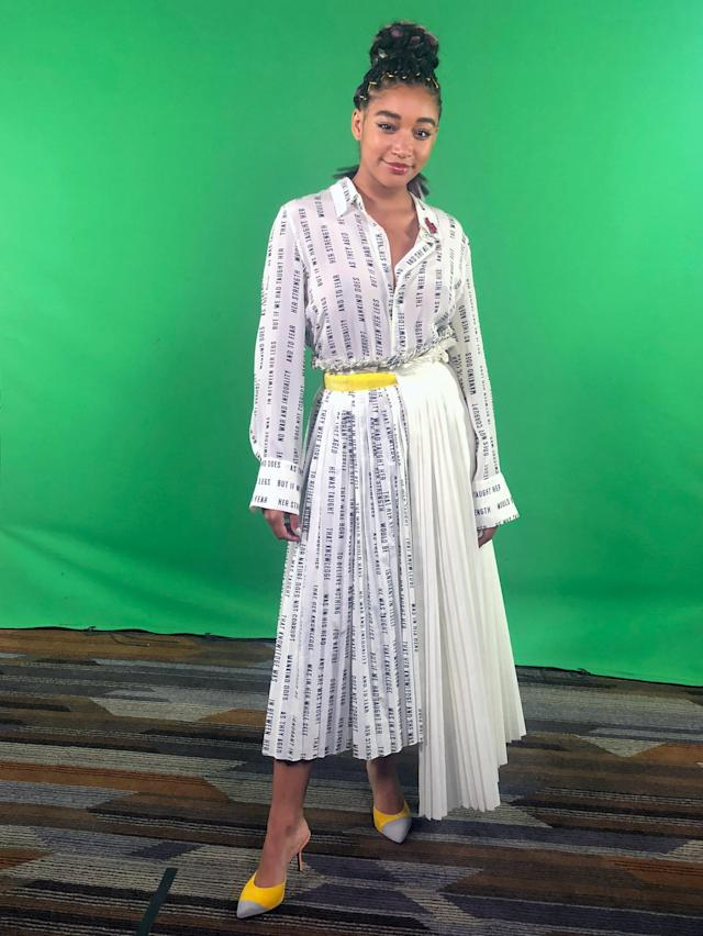 Amandla Stenberg at Comic-Con International in San Diego. (Photo: Chrissy Le Nguyen/Yahoo Entertainment)