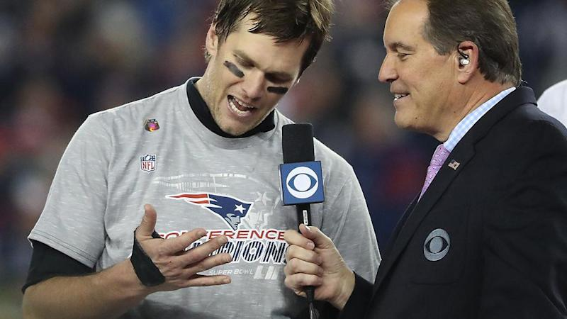 Brady discusses the injury after winning the 2017 AFC Championship game. Pic: Getty