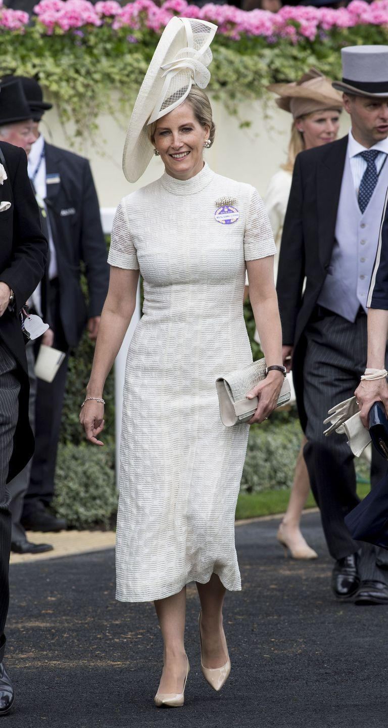 """<p>As the wife of Queen Elizabeth's youngest son, Prince Edward, <a href=""""https://www.townandcountrymag.com/style/fashion-trends/g22663499/sophie-countess-wessex-fashion/"""" rel=""""nofollow noopener"""" target=""""_blank"""" data-ylk=""""slk:Sophie, Countess of Wessex"""" class=""""link rapid-noclick-resp"""">Sophie, Countess of Wessex</a> is a working member of the British Royal Family. Sophie married into the royal family, after having grown up in Kent, England and working in public relations. </p>"""