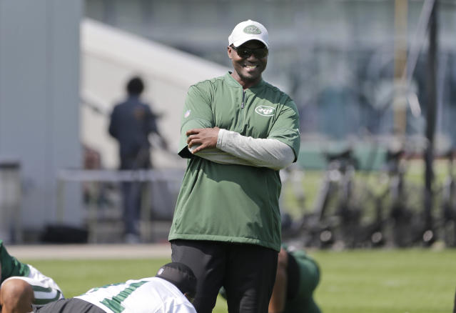 The antithesis of predecessor Rex Ryan in terms of demeanor, New York Jets head coach Todd Bowles is a steady captain. (AP)
