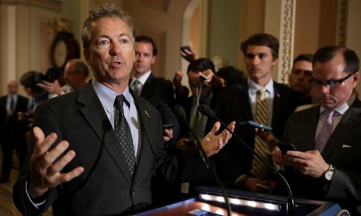 """<span class=""""element-image__caption"""">Rand Paul has helped to block Republican efforts to introduce a new health bill.</span> <span class=""""element-image__credit"""">Photograph: Chip Somodevilla/Getty Images</span>"""