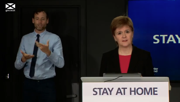 Nicola Sturgeon warned that despite daily deaths in Scotland falling to single digits this week, lockdown rules should still be obeyed. (Scottish Government)