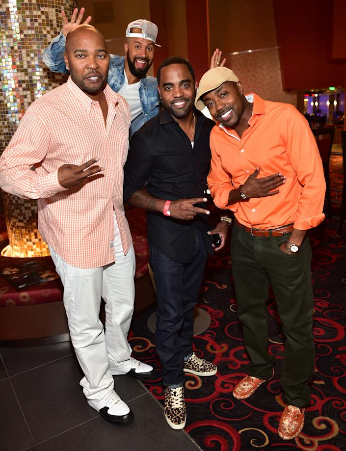 ATLANTA, GA - AUGUST 27: Ryan Cameron, Kenny Burns, Todd Tucker and Will Packer attend the Atlanta screening of 'No Good Deed' at Strip Atlantic Station on August 27, 2014 in Atlanta, Georgia. (Photo by Prince Williams/FilmMagic)