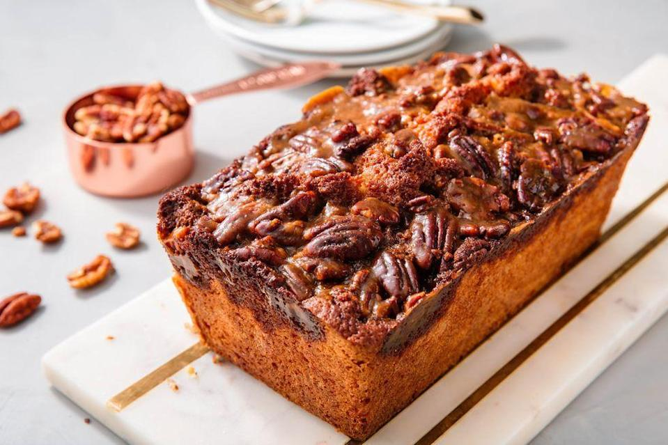 "<p>If you love this classic pie, why not give other sweets the pecan-pie treatment? Here's the result: luscious, rich cake with a crunchy, caramelly topping. Oh, yeah.</p><p><em><a href=""https://www.delish.com/holiday-recipes/thanksgiving/a23012592/pecan-pie-pound-cake-recipe/"" rel=""nofollow noopener"" target=""_blank"" data-ylk=""slk:Get the recipe from Delish »"" class=""link rapid-noclick-resp"">Get the recipe from Delish »</a></em></p>"