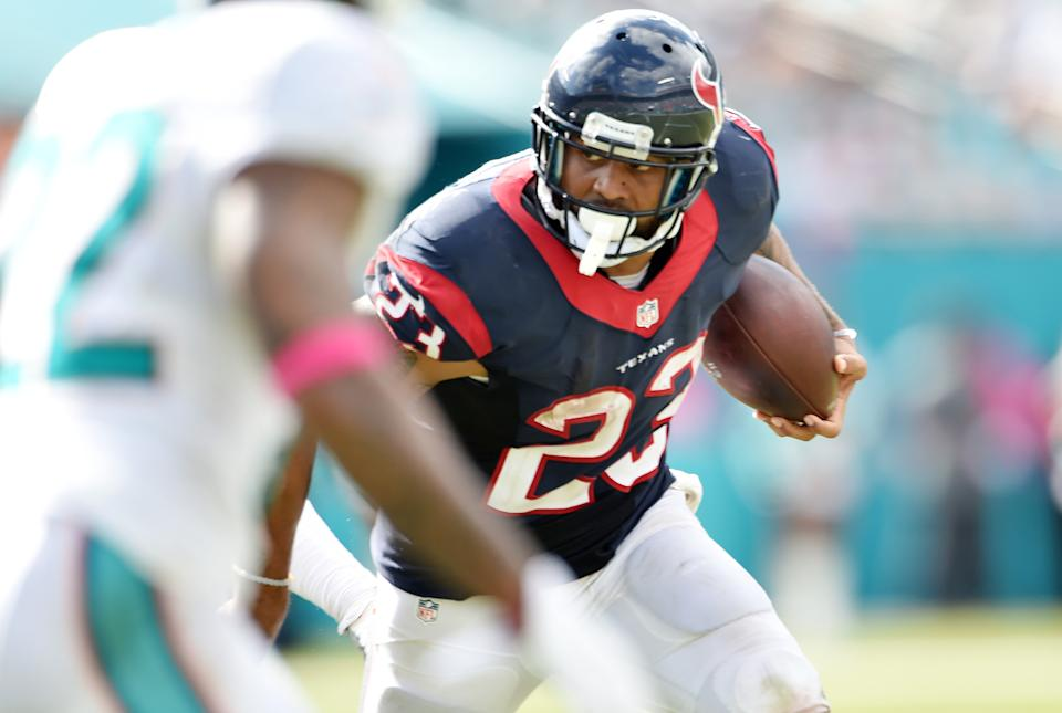 As a Texans scout, Mike Martin implored his team to sign Arian Foster after he went undrafted out of Tennessee, and he ended up as the franchise's all-time leading rusher (Getty Images).