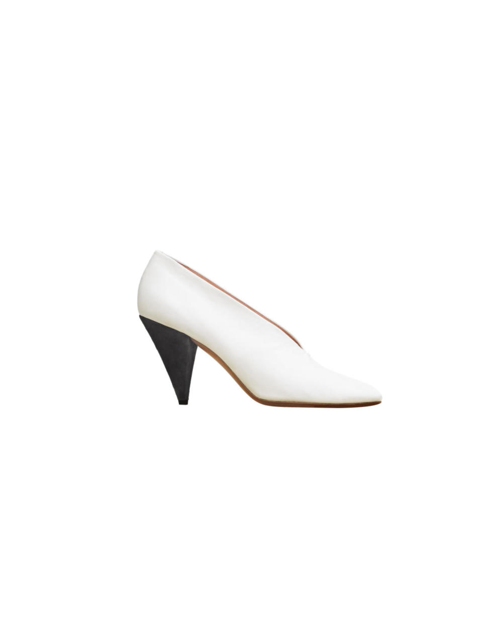 "<p>Milky white pumps in lambskin, $1,200, available at <a href=""https://www.celine.com/en"" rel=""nofollow noopener"" target=""_blank"" data-ylk=""slk:Celine"" class=""link rapid-noclick-resp"">Celine</a></p>"