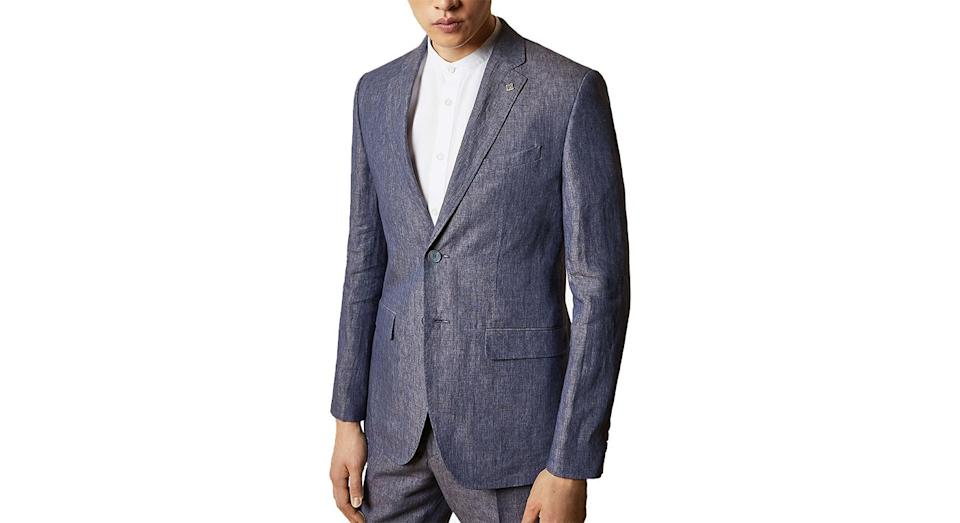 Ted Baker Jean Linen Tailored Fit Suit Jacket