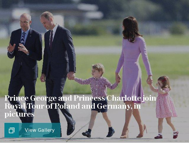 Prince George and Princess Charlotte join Royal Tour of Poland and Germany, in pictures
