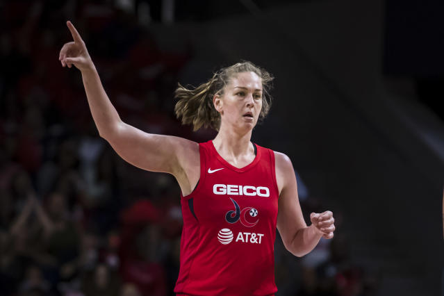 "<a class=""link rapid-noclick-resp"" href=""/wnba/players/5182/"" data-ylk=""slk:Emma Meesseman"">Emma Meesseman</a> was the Mystics missing piece for a championship. (Photo by Scott Taetsch/Getty Images)"
