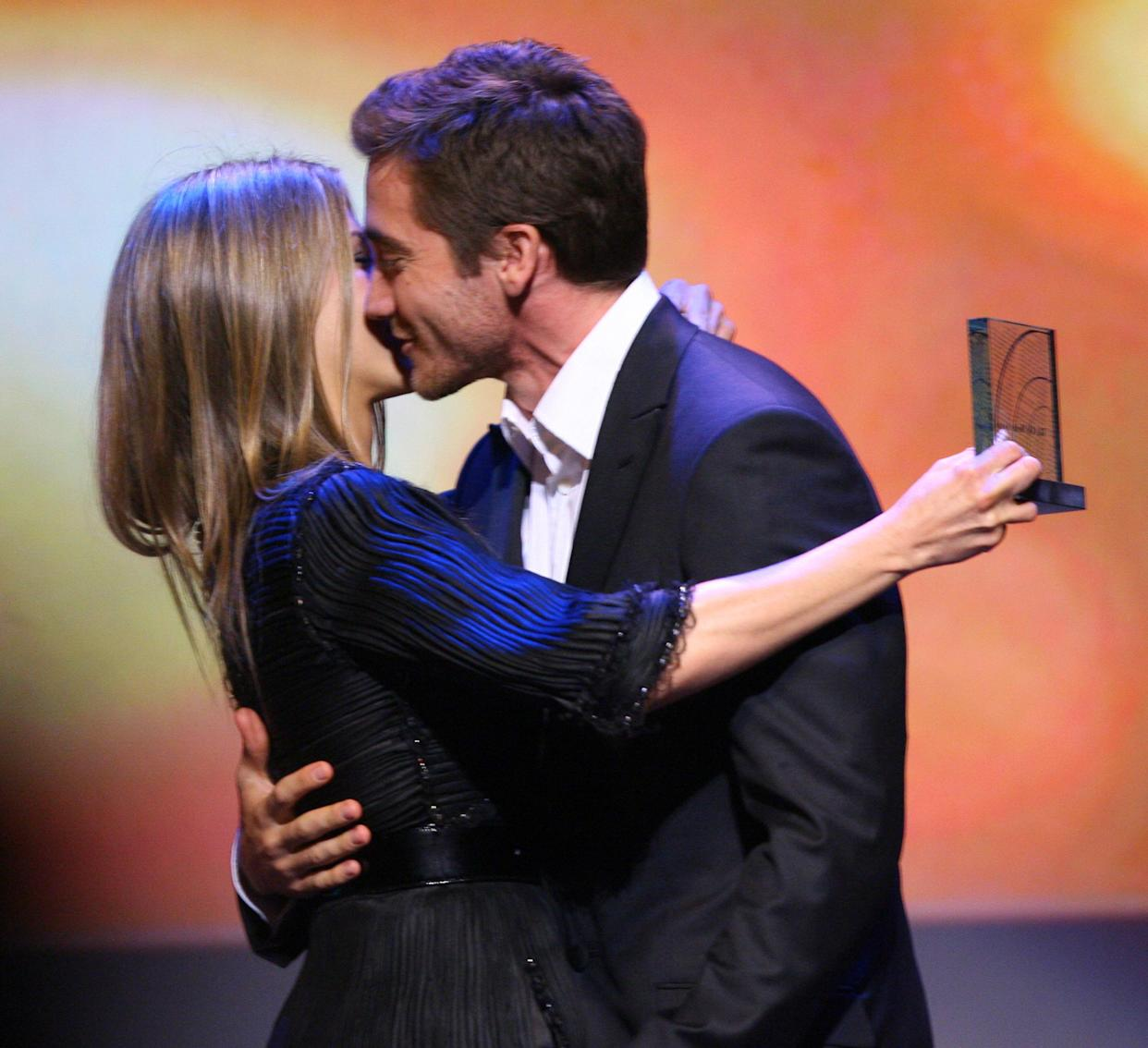Jennifer Aniston and Jake Gyllenhaal during 18th Annual GLAAD Media Awards - Los Angeles - Show at Kodak Theater in Los Angeles, California, United States. (Photo by John Shearer/WireImage)