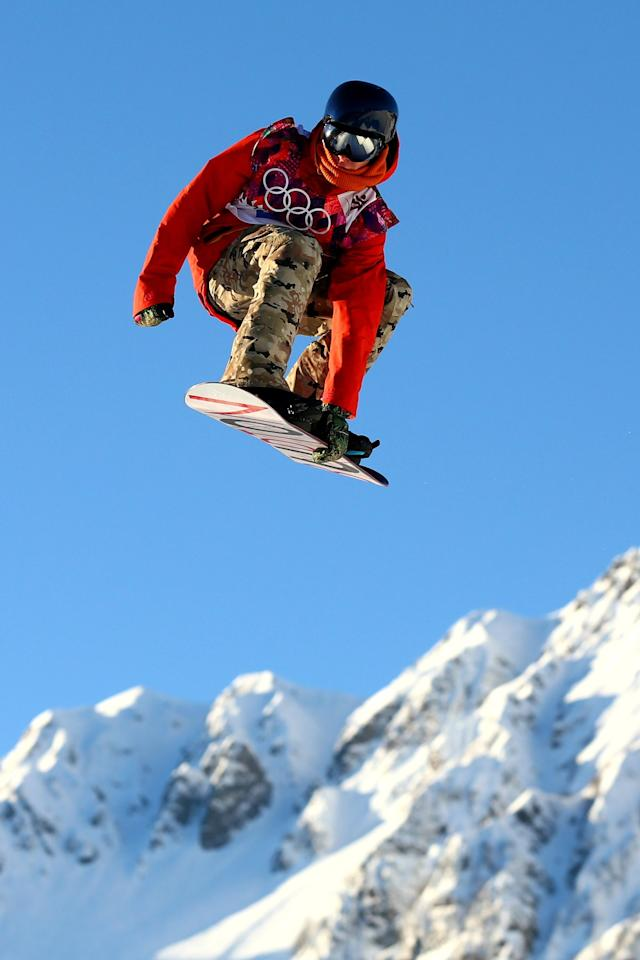 SOCHI, RUSSIA - FEBRUARY 08: Seppe Smits of Belgium competes during the Snowboard Men's Slopestyle Semifinals during day 1 of the Sochi 2014 Winter Olympics at Rosa Khutor Extreme Park on February 8, 2014 in Sochi, Russia. (Photo by Cameron Spencer/Getty Images)