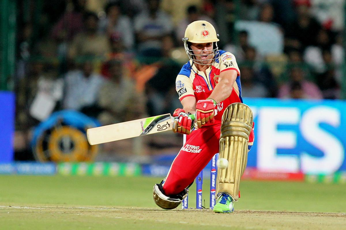 Ab De Villiers during match 12 of the Pepsi Indian Premier League between The Royal Challengers Bangalore and The Kolkata Knight Riders  held at the M. Chinnaswamy Stadium, Bengaluru  on the 11th April 2013Photo by Prashant Bhoot-IPL-SPORTZPICS Use of this image is subject to the terms and conditions as outlined by the BCCI. These terms can be found by following this link:https://ec.yimg.com/ec?url=http%3a%2f%2fwww.sportzpics.co.za%2fimage%2fI0000SoRagM2cIEc&t=1498233323&sig=RmJ9DfqbcBSRLFJrWH8LBw--~C