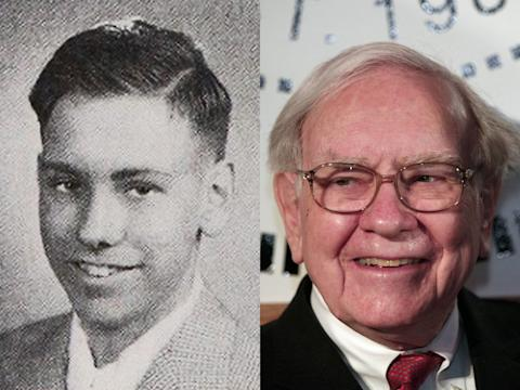 warren buffett young and old