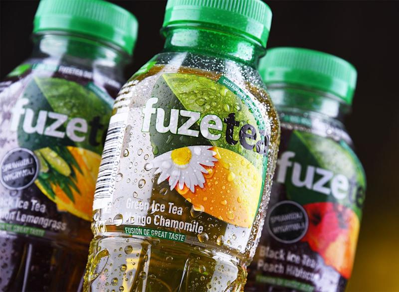 bottles of fuze iced tea