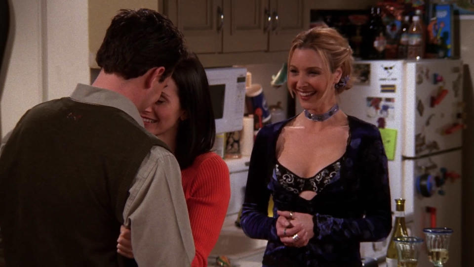 <p> Ingenious use of both Phoebe and Chandler here, as news of the latter&#x2019;s tryst with Monica begins to circulate among the Friends. Egged on by Rachel and Joey (Phoebe) and Monica (Chandler) &#x2013; &#x201C;they don&apos;t know that we know they know we know!&#x201D; &#x2013; the pair&#x2019;s game of chicken escalates from mild flirting to the series&#x2019; most awkward ever kiss, delivering huge laughs every step of the way. &#x201C;Oh my God! He wants me to come over, and feel his bicep, and more!&#x201D; Then, during the credits, Ross finds out too&#x2026; </p> <p> <strong>Best line:</strong>&#xA0;Ross: What are you doing? GET OFF MY SISTER! </p>