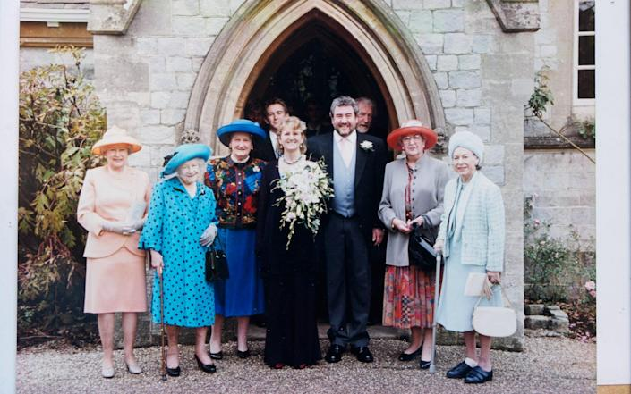Victoria and John's wedding, in 1999