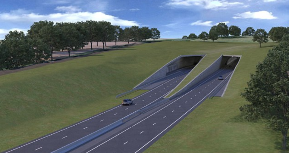 The divisive tunnel aims to restore the tranquil setting of the famous stone circle (Highways England)