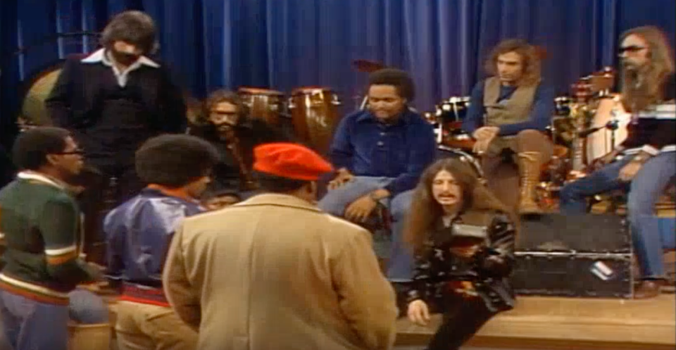 The Doobie Brothers confront Rerun and his giant tape recorder on <em>What's Happening!!</em> (Photo: YouTube)