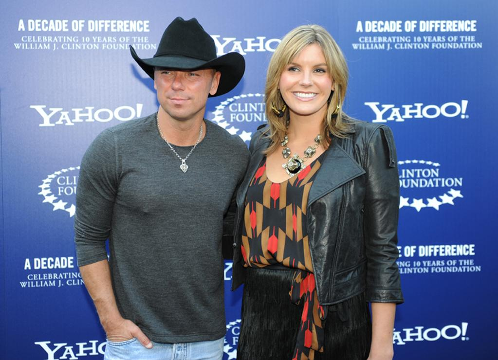 "Kenny Chesney and Grace Potter arrive at the ""A Decade of Difference"" concert on October 15, 2011, at the Hollywood Bowl, Los Angeles. <br><br>(Photo by Stephanie Cabral/Yahoo!)"