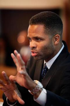Jesse Jackson Jr. speaks at a town hall in Aug. 2009.