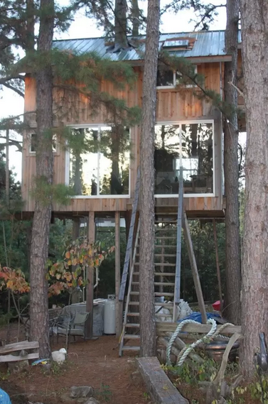 """<p>Stay in this <span class=""""redactor-unlink"""">Missouri cabin</span> nestled amongst five pine trees, and you might have a chance to attend one of the hosts' drum circles or potlucks. It's serious inspiration for that tiny house you've been dreaming of building.</p><p><a class=""""link rapid-noclick-resp"""" href=""""https://www.airbnb.com/rooms/3793576"""" rel=""""nofollow noopener"""" target=""""_blank"""" data-ylk=""""slk:BOOK NOW"""">BOOK NOW</a> <strong><em>Two-Story Treehouse</em></strong><br></p>"""