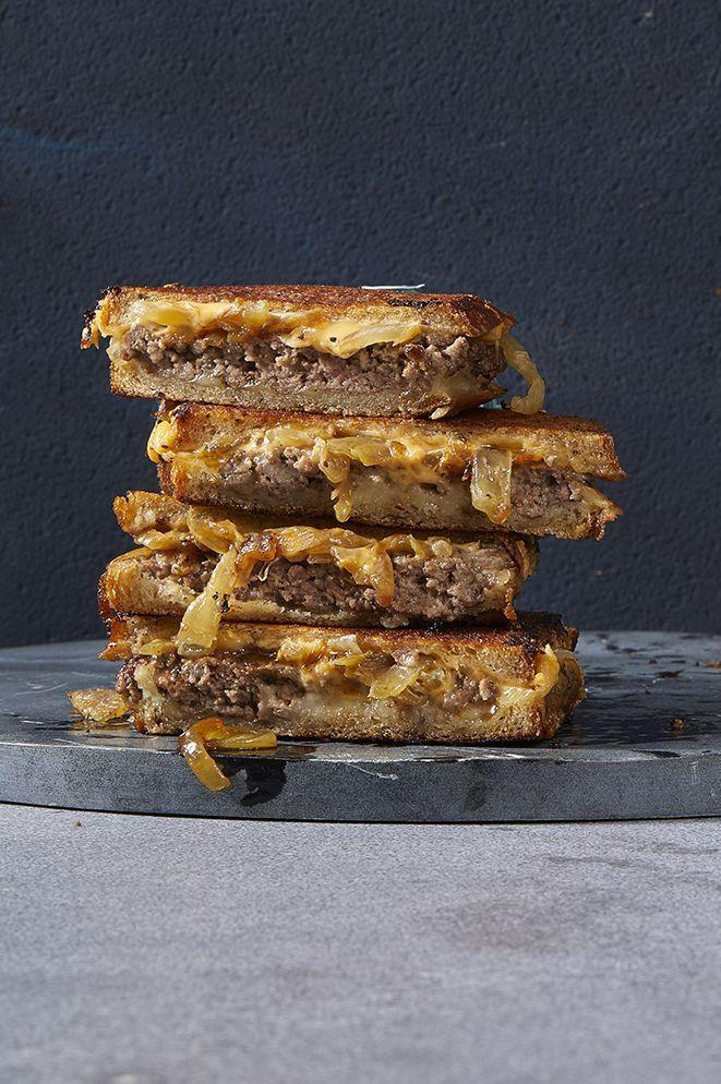 """<p>Burger meets grilled cheese in this rich and delicious dinner.</p><p><em><a href=""""https://www.goodhousekeeping.com/food-recipes/easy/a30172718/patty-melt-recipe/"""" rel=""""nofollow noopener"""" target=""""_blank"""" data-ylk=""""slk:Get the recipe for Classic Patty Melt »"""" class=""""link rapid-noclick-resp"""">Get the recipe for Classic Patty Melt »</a></em></p><p><strong>RELATED:</strong> <a href=""""https://www.goodhousekeeping.com/food-recipes/g1553/burger-recipes/"""" rel=""""nofollow noopener"""" target=""""_blank"""" data-ylk=""""slk:40+ Unique, Homemade Burger Recipes That Will Satisfy Your Cravings"""" class=""""link rapid-noclick-resp"""">40+ Unique, Homemade Burger Recipes That Will Satisfy Your Cravings</a></p>"""