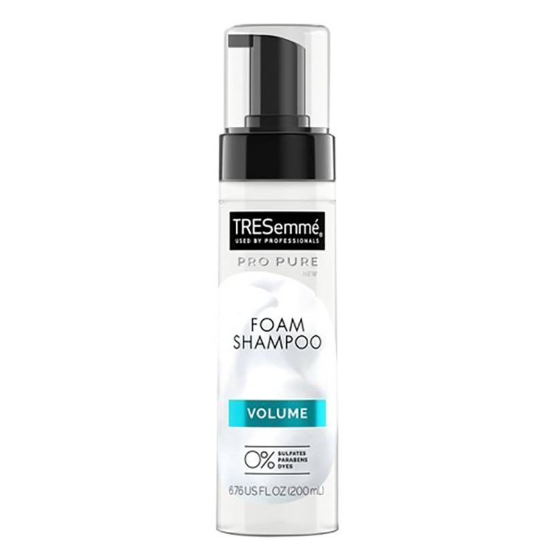 """<p>I think we can all agree that the bubbly lather is one of the best parts of the shampoo experience. TRESemmé's shampoo pumps out in a satisfying, lightweight foam that soaks into your hair for a deep clean, and leaves even the finest hair with that extra oomph. The clean formula (made without sulfates, parabens, or dyes) matches the feeling your hair will have post-shower.</p> <p><strong>To buy</strong>: $5, <a href=""""http://www.anrdoezrs.net/links/7876406/type/dlg/sid/RS%2CITried50DrugstoreShampoos%25E2%2580%2594TheseArethe10BestUnder%252410%2Chhong%2CHAI%2CIMA%2C696488%2C202003%2CI/https://www.walgreens.com/store/c/tresemme-propure-volume-foam-shampoo/ID=300398826-product"""" target=""""_blank"""">walgreens.com</a>.</p>"""
