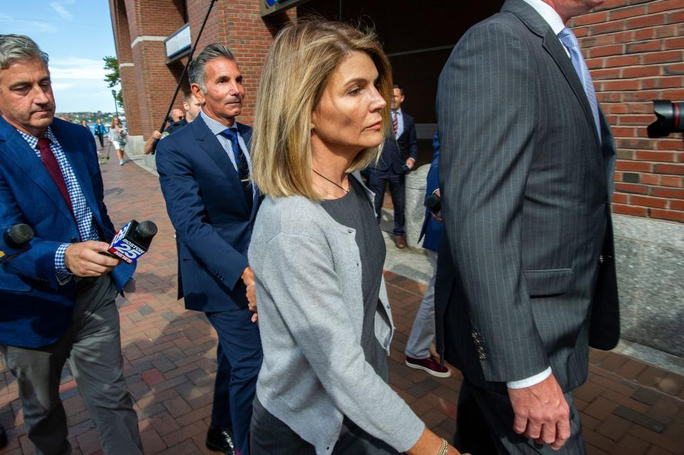 Lori Loughlin — outside court in August — has pleaded not guilty again. (Photo: JOSEPH PREZIOSO/AFP/Getty Images)