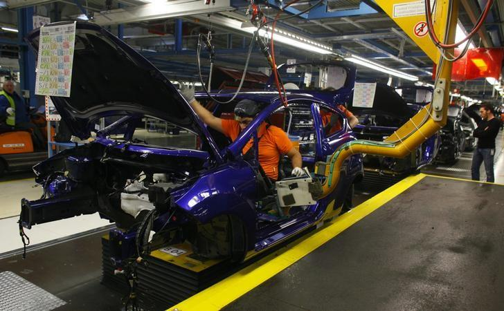 General view of the assembly line of the new Ford Fiesta in Cologne