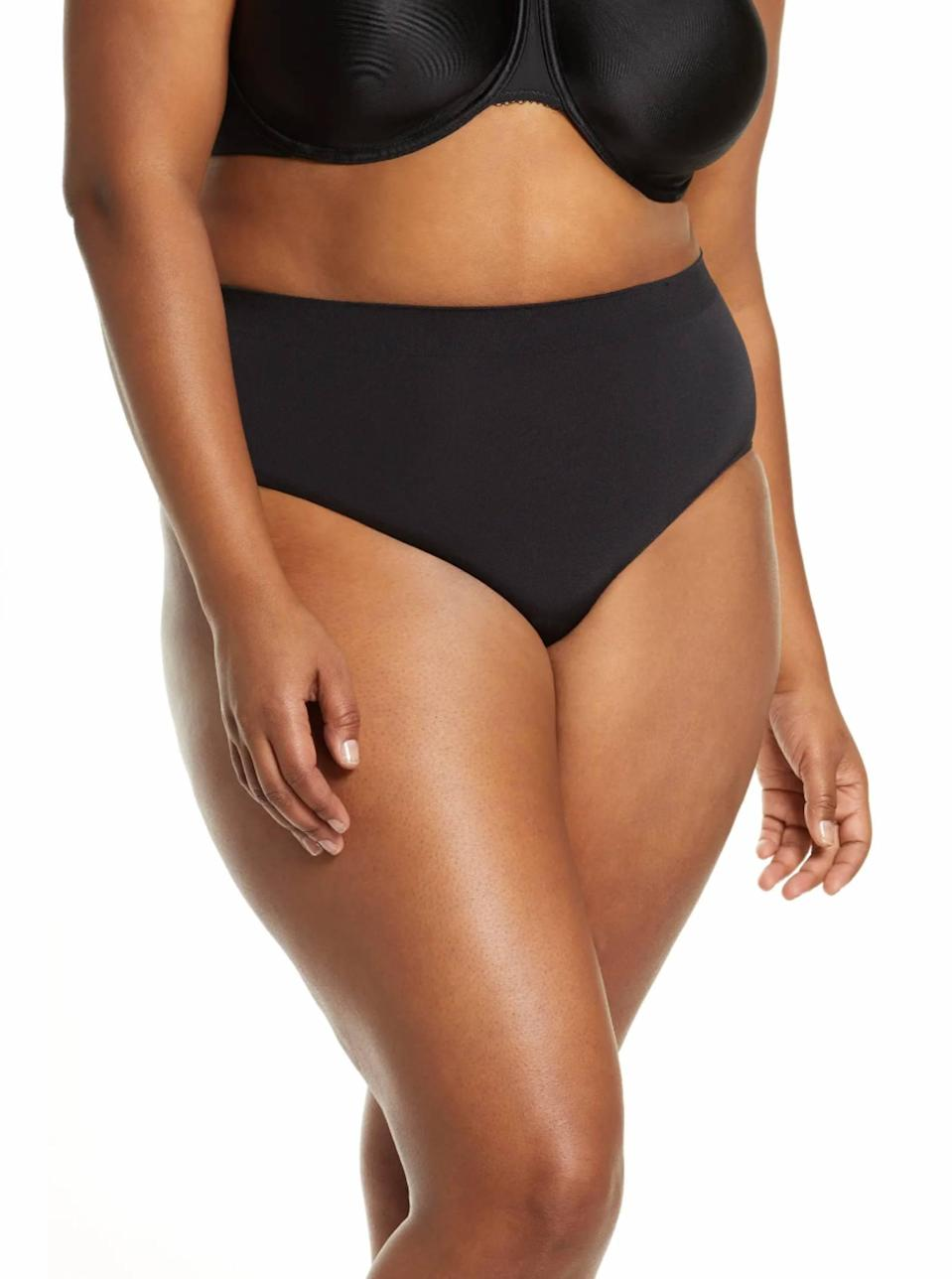 """We love the high waist on these smoothing briefs for added tummy support. It comes in six other neutral colors too—ideal if you want your undies to disappear under clothing. $15, Nordstrom. <a href=""""https://www.nordstrom.com/s/wacoal-b-smooth-briefs-buy-more-save/3085320"""" rel=""""nofollow noopener"""" target=""""_blank"""" data-ylk=""""slk:Get it now!"""" class=""""link rapid-noclick-resp"""">Get it now!</a>"""