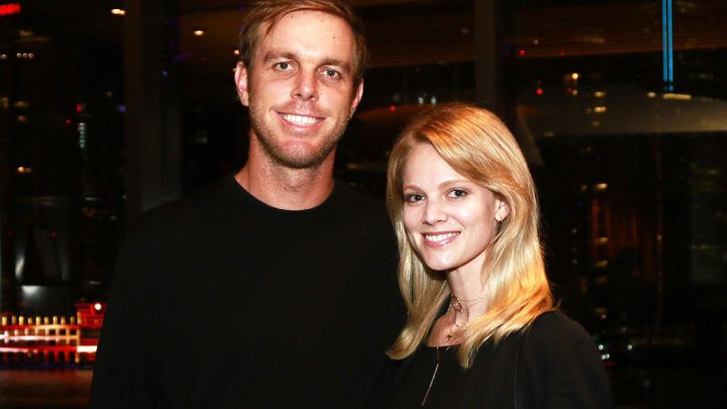 Sam Querrey and wife Abby, pictured here in China in 2016.