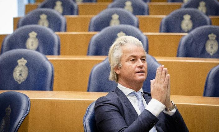 The anti-Islam Freedom Party of Dutch MP Geert Wilders is riding high in the polls and could grab the lion's share in the 150-seat lower house (AFP Photo/Bart Maat)