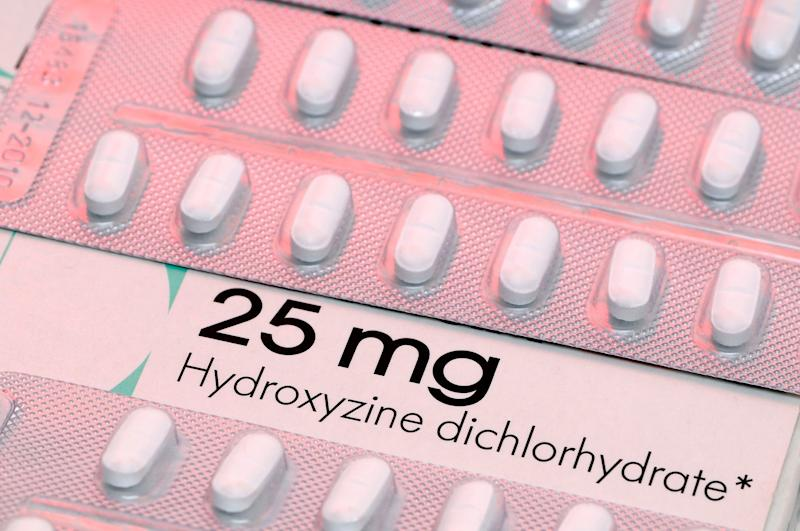 """Hydroxyzine is a first-generation antihistamine used to reduce activity in the central nervous system. It also acts as an antihistamine that decreases the natural chemical histamine in the body. Histamine can produce symptoms of sneezing and runny nose, or hives on the skin. For a list of other first-generation antihistamines, go <a href=""""http://www.kurzweilai.net/are-you-elderly-and-having-memory-or-concentration-problems"""">here.</a>"""