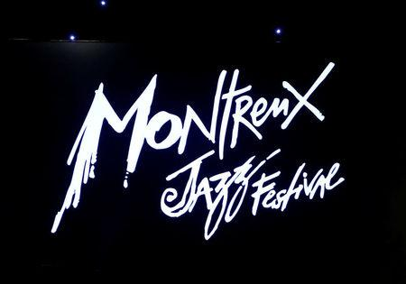 FILE PHOTO: A logo is pictured during the 50th Montreux Jazz Festival in Montreux
