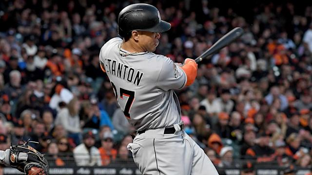 All-Star Giancarlo Stanton improved his tally with a home run against the Arizona Diamondbacks on Saturday.