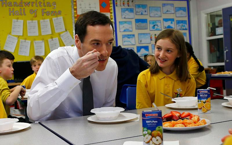 George Osborne at a school  - Credit: Darren Staples /PA