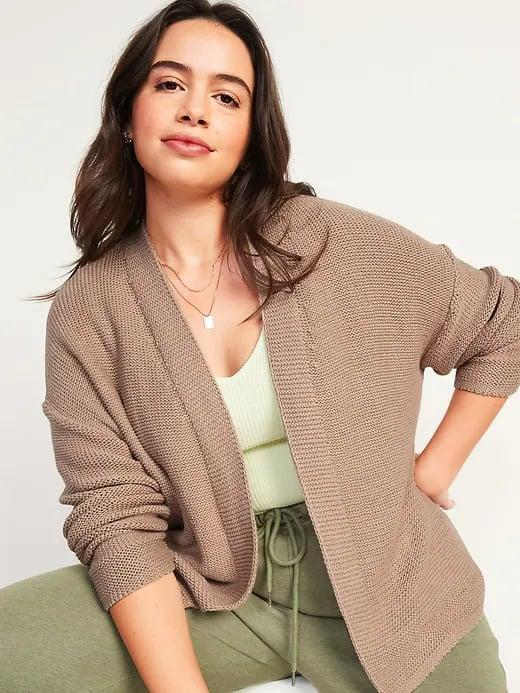 <p>Since any <span>Old Navy Slouchy Open-Front Cardigan Sweater</span> ($37) comes in regular, tall, and petite options, you'll get just the right length for you.</p>