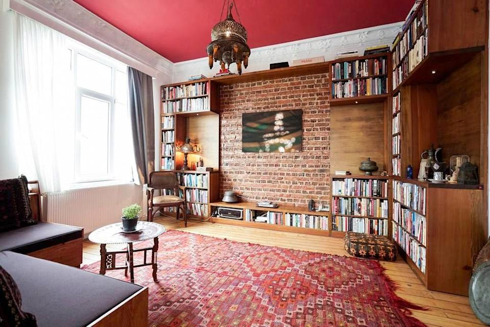 """This two-bedroom home is a Turkish history lesson in and of itself, thanks to 19th-century documentary photography scattered throughout. Plus, the listing says the Airbnb's library """"spans Mediterranean/Middle East/North Africa/Central Asia–specific literature, philosophy, travel writing, and current affairs."""" That's something for every reader. $69, Airbnb (Starting Price). <a href=""""https://www.airbnb.com/rooms/5332123"""" rel=""""nofollow noopener"""" target=""""_blank"""" data-ylk=""""slk:Get it now!"""" class=""""link rapid-noclick-resp"""">Get it now!</a>"""