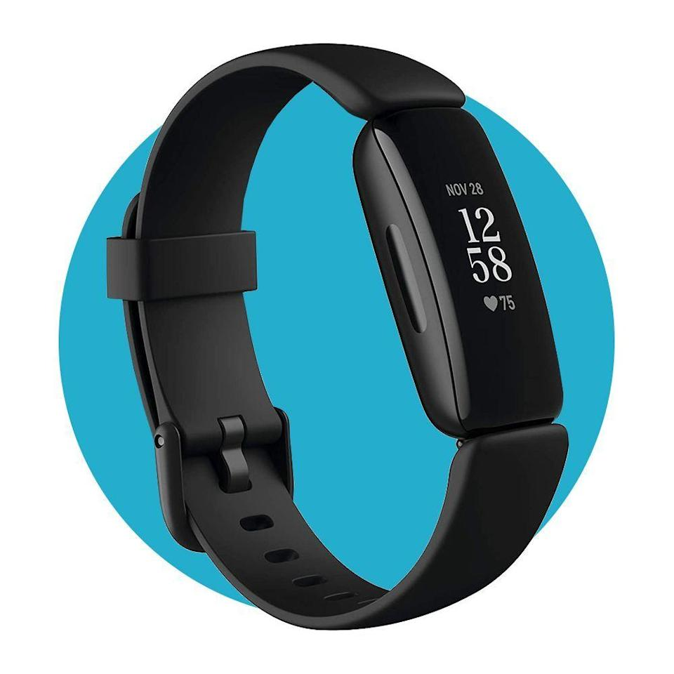 """<p><strong>Fitbit</strong></p><p>amazon.com</p><p><strong>$99.95</strong></p><p><a href=""""https://www.amazon.com/dp/B08DFGPTSK?tag=syn-yahoo-20&ascsubtag=%5Bartid%7C2089.g.34449251%5Bsrc%7Cyahoo-us"""" rel=""""nofollow noopener"""" target=""""_blank"""" data-ylk=""""slk:Shop Now"""" class=""""link rapid-noclick-resp"""">Shop Now</a></p><p>We chose the Fitbit Inspire 2 Fitness Tracker as the <a href=""""https://www.bestproducts.com/tech/gadgets/g1585/fitbit-reviews/"""" rel=""""nofollow noopener"""" target=""""_blank"""" data-ylk=""""slk:best budget Fitbit of 2020"""" class=""""link rapid-noclick-resp"""">best budget Fitbit of 2020</a> because for under $100 you get an easy-to-use gadget with an impressive battery life (full charge lasts up to 10 days), built-in heart rate sensor, and a case that's waterproof up to 50 meters.</p>"""