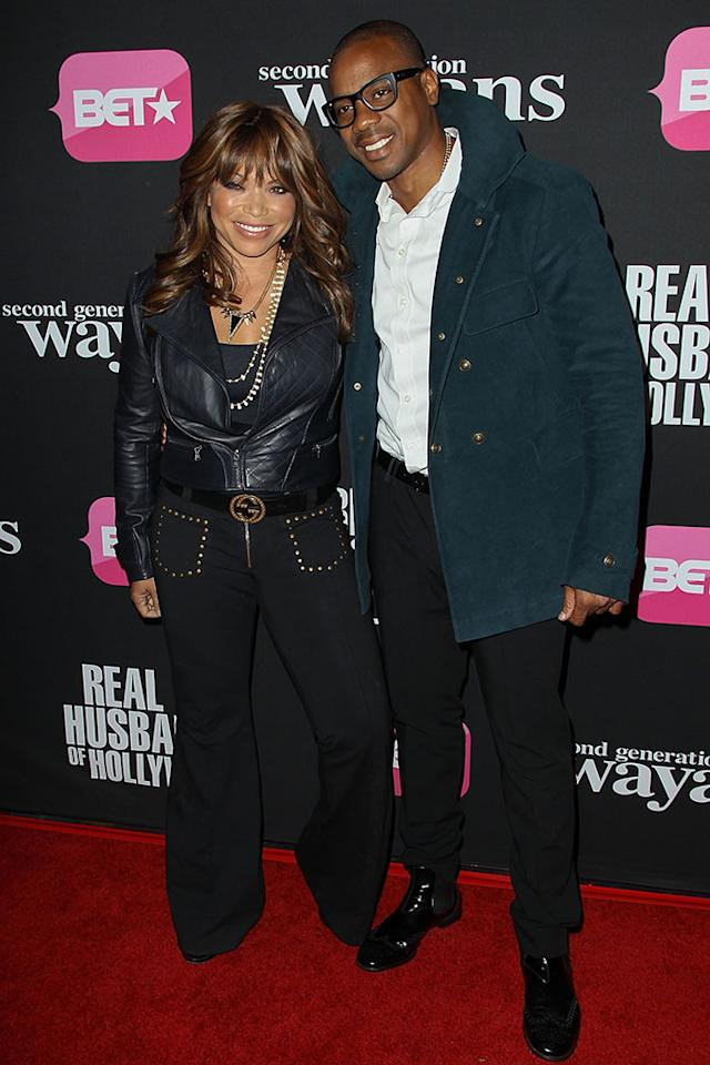"Tisha Campbell and Duane Martin arrive at the screenings of BET Networks' ""Real Husbands of Hollywood"" and ""Second Generation Wayans"" held at the Regal Cinemas L.A. Live on January 8, 2013 in Los Angeles, California."