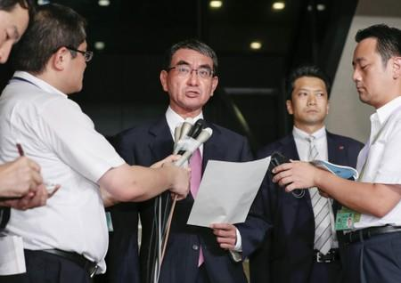Japan's formin Kono may move to defence in cabinet shuffle: Sankei