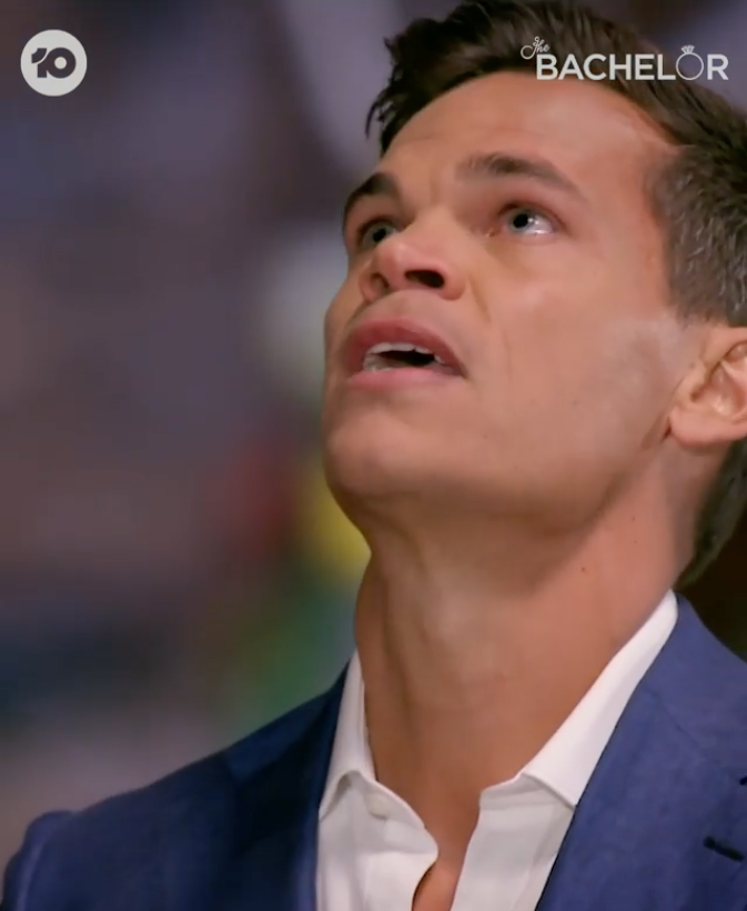 jimmy crying during bachelor finale