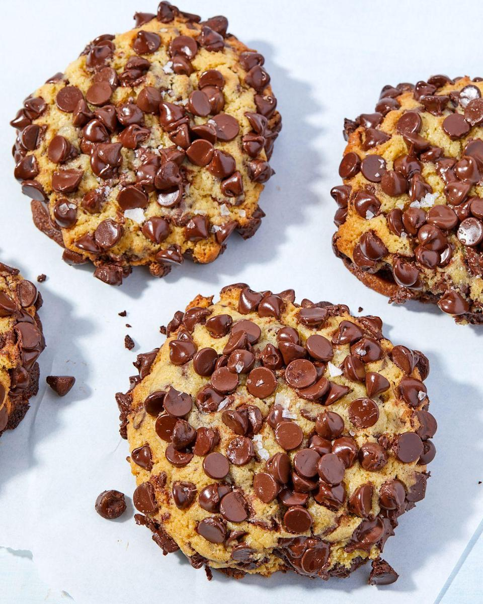 """<p>It's safe to say these are the chippiest chocolate chip cookies we've ever created.</p><p>Get the recipe from <a href=""""https://www.delish.com/cooking/recipe-ideas/a36422636/chocolate-chip-covered-cookies-recipe/"""" rel=""""nofollow noopener"""" target=""""_blank"""" data-ylk=""""slk:Delish"""" class=""""link rapid-noclick-resp"""">Delish</a>.</p>"""