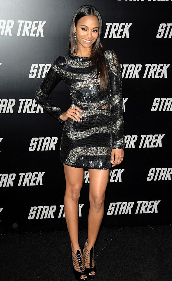 "<a href=""http://movies.yahoo.com/movie/contributor/1800362233"">Zoe Saldana</a> at the Los Angeles premiere of <a href=""http://movies.yahoo.com/movie/1809752801/info"">Star Trek</a> - 04/30/2009"