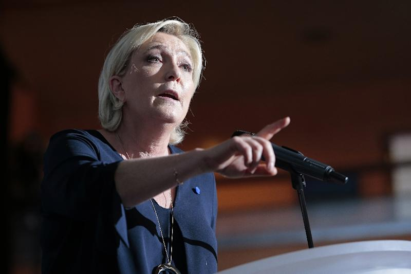 Marine Le Pen, the French presidential election candidate for the far-right National Front