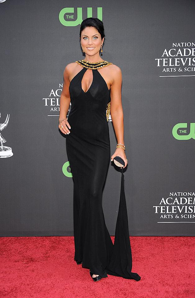 """Nadia Bjorlin (""""Days of Our Lives"""") was too hot too handle in this sexy black number. Frazer Harrison/<a href=""""http://www.gettyimages.com/"""" target=""""new"""">GettyImages.com</a> - August 30, 2009"""