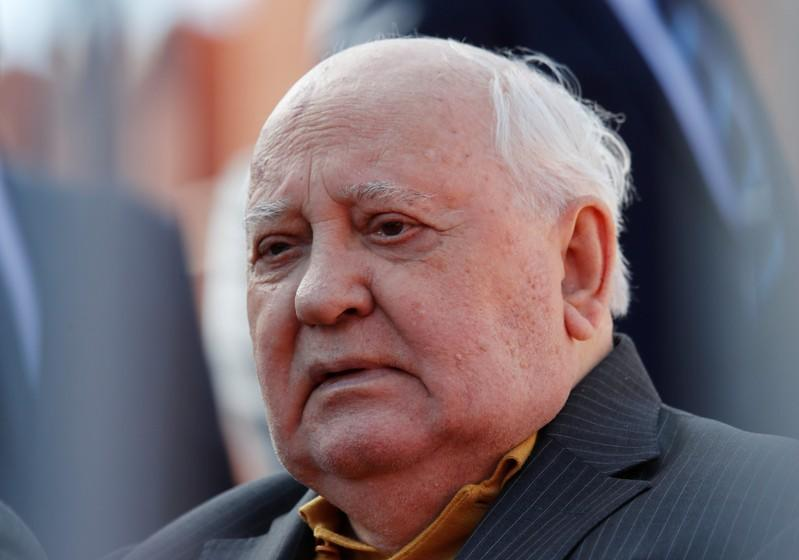 FILE PHOTO: Former Soviet President Mikhail Gorbachev attends the Victory Day parade at Red Square in Moscow