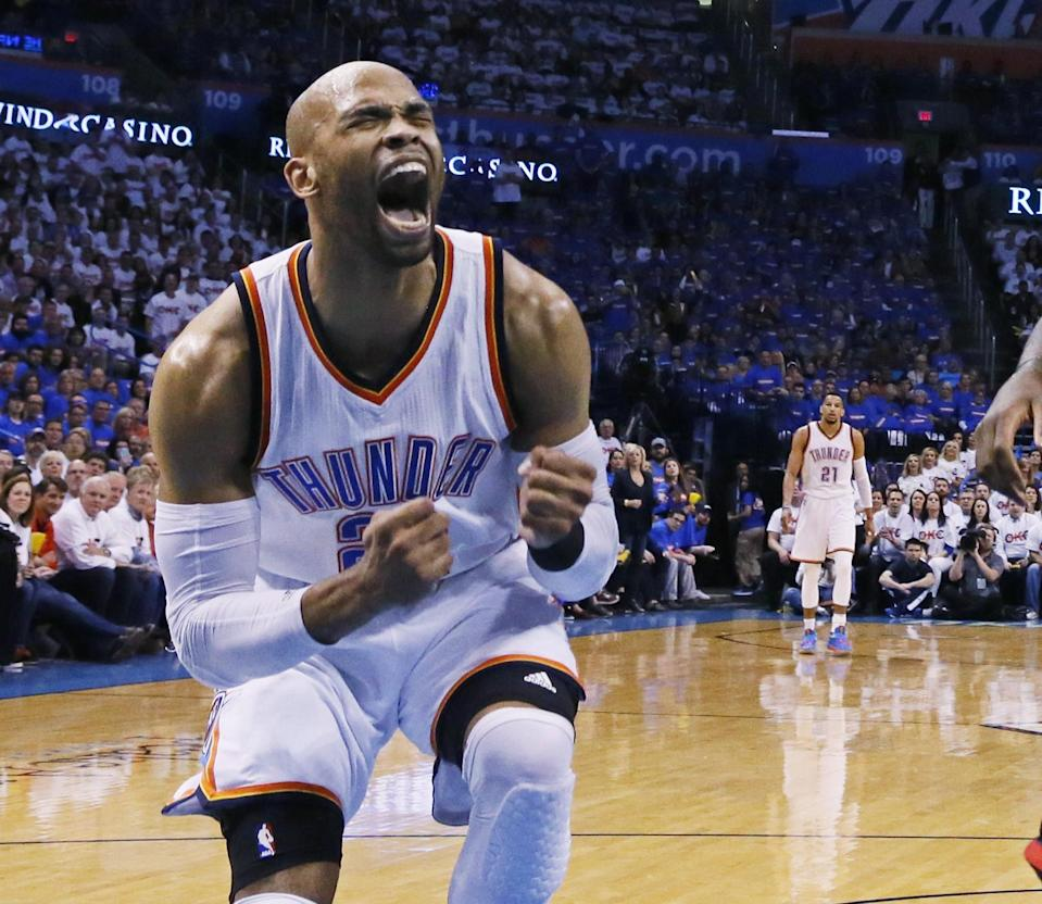 The Thunder may not be able to afford Taj Gibson. (AP)